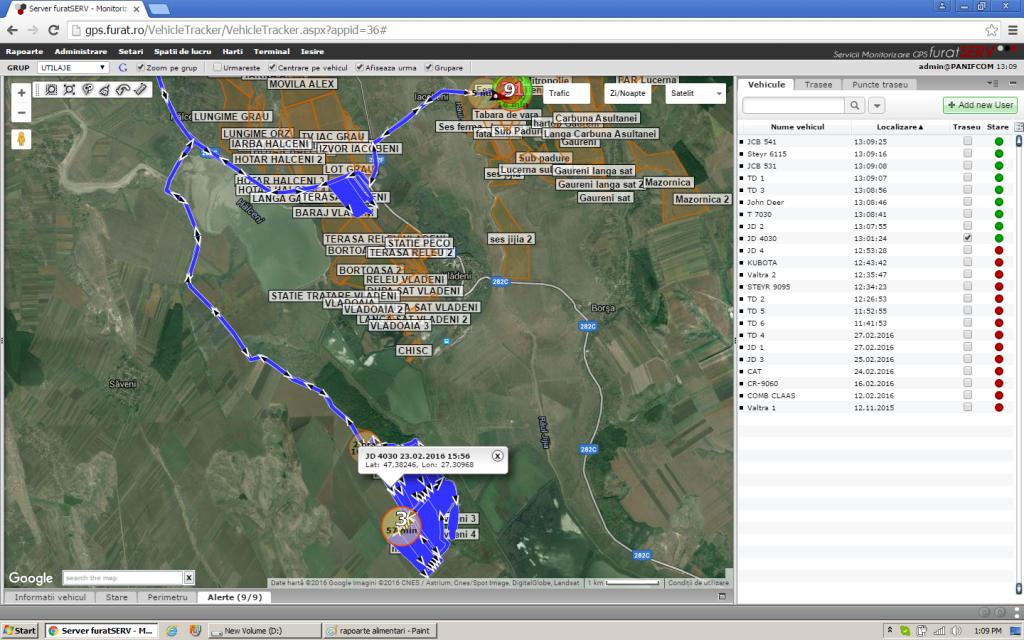 Monitorizare GPS tractoare