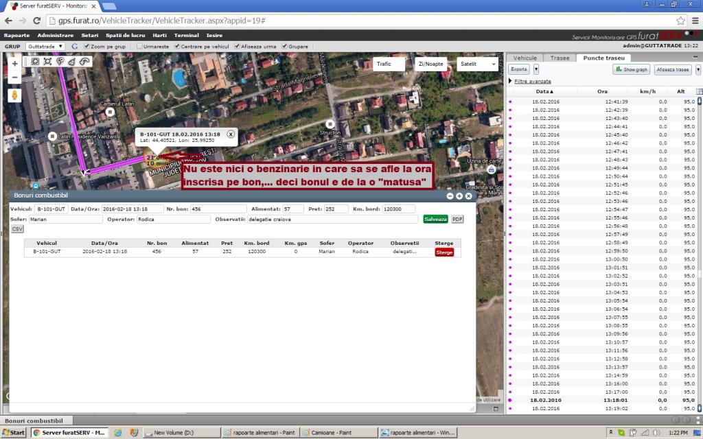 monitorizare motorina, monitorizare GPS consum